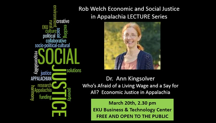 Welch Appalachian Social and Economic Justice Lecture Series