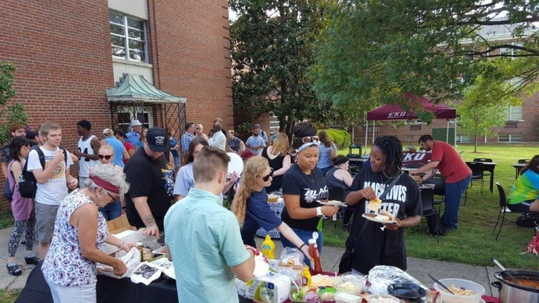 Annual Fall Dept Cookout (2017) with Interdisciplinary Programs