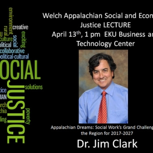 Welch Lecture 2017, with Word Cloud and Speaker (Dr. Jim Clark)